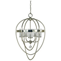 Margaux 5 Light 23 inch Brass Nickel and Polished Nickel Foyer Chandelier Ceiling Light