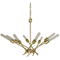 Quasar 8 Light 32 inch Satin Brass Dining Chandelier Ceiling Light