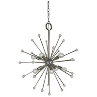 Framburg 3088PN Supernova 10 Light 24 inch Polished Nickel Foyer Chandelier Ceiling Light