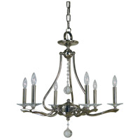 Allena 6 Light 27 inch Polished Nickel Dining Chandelier Ceiling Light