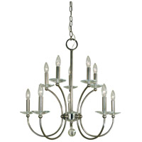 Pirouette 10 Light 26 inch Polished Nickel Chandelier Ceiling Light