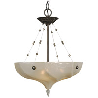 Giselle 3 Light 18 inch Mahogany Bronze Dining Chandelier Ceiling Light