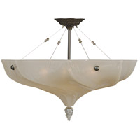 Giselle 4 Light 25 inch Mahogany Bronze Semi-Flush Mount Ceiling Light