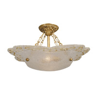HA Framburg Veronique 2 Light Semi-Flush Mount in Bronzed Gold Leaf 4000BGL