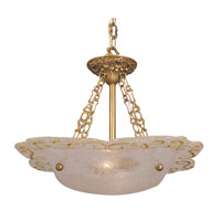 HA Framburg Veronique 2 Light Mini Chandelier in Bronzed Gold Leaf 4001BGL