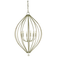 Dewdrop 6 Light 29 inch Brushed Nickel Chandelier Ceiling Light