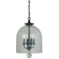 HA Framburg Hannover 4 Light Mini Chandelier in Mahogany Bronze 4355MB