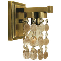 HA Framburg Naomi 1 Light Sconce in French Brass 4361FB