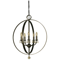 Constellation 5 Light 22 inch Mahogany Bronze Dining Chandelier Ceiling Light