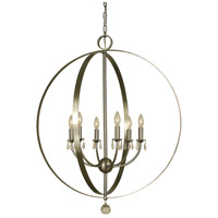 HA Framburg Constellation 6 Light Foyer Chandelier in Brushed Nickel 4376BN