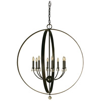 HA Framburg Constellation 8 Light Foyer Chandelier in Mahogany Bronze 4378MB