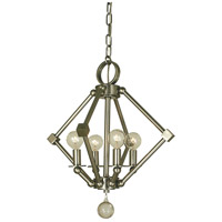 HA Framburg Diamond 4 Light Mini Chandelier in Brushed Nickel 4384BN