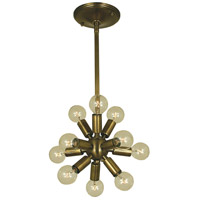 Simone 11 Light 12 inch Antique Brass Chandelier Ceiling Light