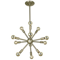 HA Framburg Simone 12 Light Dining Chandelier in Brushed Nickel 4393BN