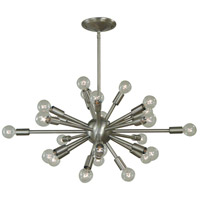 Simone 24 Light 28 inch Brushed Nickel Chandelier Ceiling Light