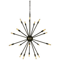 Simone 24 Light 40 inch Mahogany Bronze Chandelier Ceiling Light