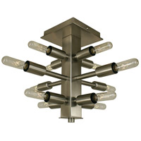 Simone 12 Light 15 inch Brushed Nickel Semi-Flush Mount Convertible Ceiling Light