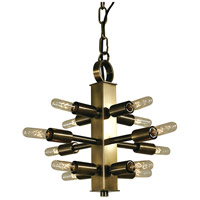 HA Framburg Simone 12 Light Mini Chandelier in Antique Brass 4403AB