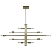 Simone 10 Light 40 inch Brushed Nickel Chandelier Ceiling Light