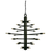 Simone 28 Light 40 inch Mahogany Bronze Chandelier Ceiling Light