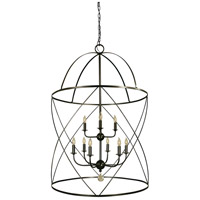 Nantucket 9 Light 30 inch Mahogany Bronze Foyer Chandelier Ceiling Light in Without Shade