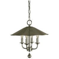 Taylor 4 Light 14 inch Brushed Nickel Chandelier Ceiling Light
