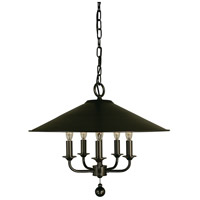 HA Framburg Compass 5 Light Chandelier in Brushed Nickel 4525BN
