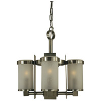 Hammersmith 4 Light 13 inch Brushed Nickel Chandelier Ceiling Light in Frosted