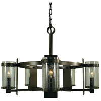 Hammersmith 5 Light 23 inch Mahogany Bronze Chandelier Ceiling Light in Clear