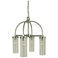 HA Framburg Hammersmith 4 Light Dinette Chandelier in Brushed Nickel 4439BN/C