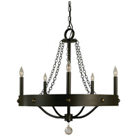 HA Framburg Warwick 5 Light Chandelier in Mahogany Bronze 4455MB