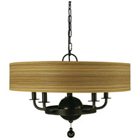 HA Framburg Meridian 5 Light Chandelier in Mahogany Bronze 4465MB