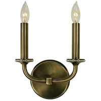 HA Framburg Isolde 2 Light Wall Sconce in Antique Brass 4472AB