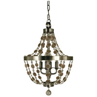 HA Framburg Naomi 4 Light Mini Chandelier in Brushed Nickel 4484BN