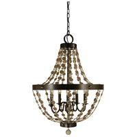 HA Framburg Naomi 5 Light Chandelier in Mahogany Bronze 4485MB