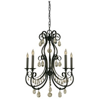 HA Framburg Contessa 5 Light Chandelier in Mahogany Bronze 4495MB