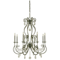 HA Framburg Contessa 8 Light Foyer Chandelier in Brushed Nickel 4498BN