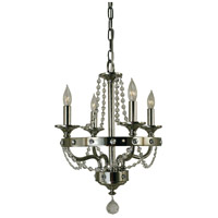 HA Framburg Isolde 4 Light Mini Chandelier in Polished Nickel 4504PN