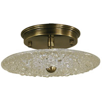 HA Framburg Celeste 1 Light Semi-Flush Mount Convertible in Antique Brass 4531AB