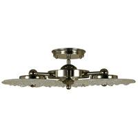 Celeste LED 19 inch Polished Nickel Semi-Flush Mount Ceiling Light