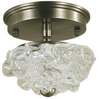 HA Framburg Celeste 1 Light Semi-Flush Mount Convertible in Brushed Nickel 4551BN