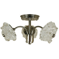 HA Framburg Celeste 3 Light Semi-Flush Mount Convertible in Polished Nickel 4553PN