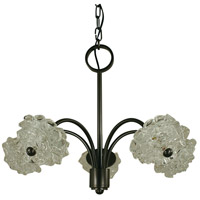 HA Framburg Celeste 5 Light Chandelier in Mahogany Bronze 4555MB