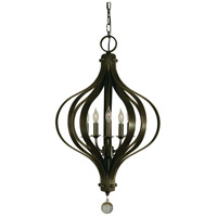 Aries 5 Light 20 inch Mahogany Bronze Chandelier Ceiling Light