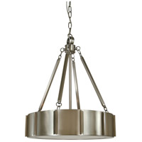 HA Framburg Pantheon 4 Light Pendant in Matte Black with Polished Nickel 4590BN/PN