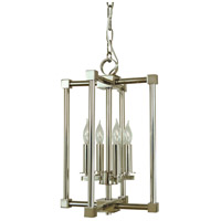 HA Framburg Lexington 4 Light Mini Chandelier in Polished Nickel 4604PN