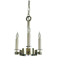 HA Framburg Hammersmith 3 Light Mini Chandelier in Polished Nickel 4613PN