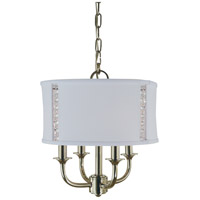 Michele 4 Light 12 inch Polished Nickel Mini Chandelier Ceiling Light