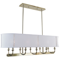 Michele 10 Light 42 inch Polished Nickel Island Chandelier Ceiling Light
