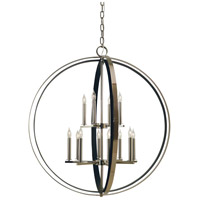 Constell 12 Light 36 inch Polished Nickel with Matte Black Foyer Chandelier Ceiling Light